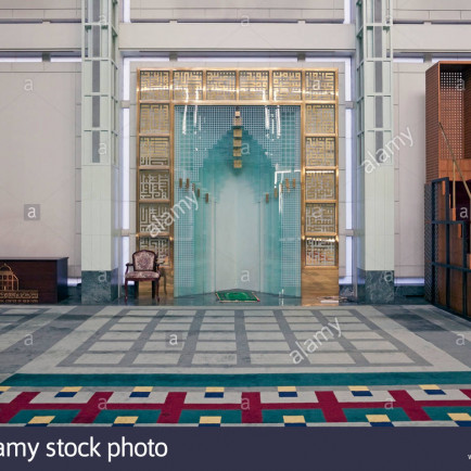 the-qibla-wall-of-the-mosque-at-the-islamic-cultural-center-of-new-BN4W4C.jpg